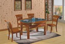 中式成品 餐桌椅 小户型火烧石餐桌椅  餐厅家具