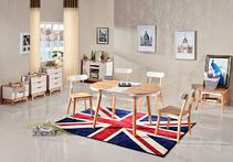 北欧成品 可伸缩餐桌大小户型餐桌长方形?#35780;?#39184;桌椅北欧宜家风格组合