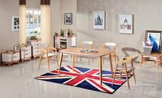 北欧成品 北欧?#30340;?#39184;桌现代简约餐桌椅组合小户型餐厅家具饭桌